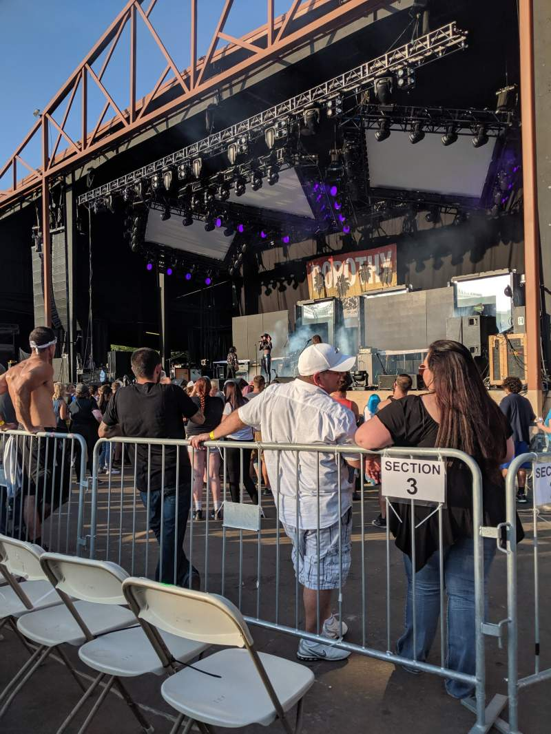 Seating view for Providence Medical Center Amphitheater Section 2 Row J Seat 1