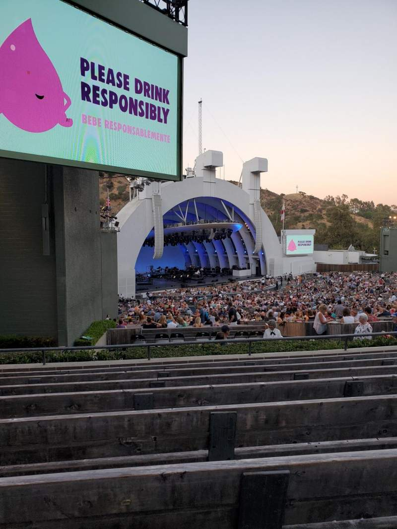Seating view for Hollywood Bowl Section K3 Row 8 Seat 25