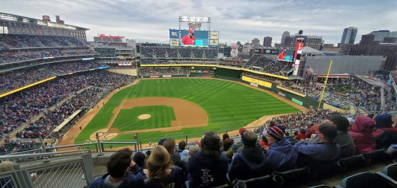 Seating view for Target Field Section 309 Row 6 Seat 17