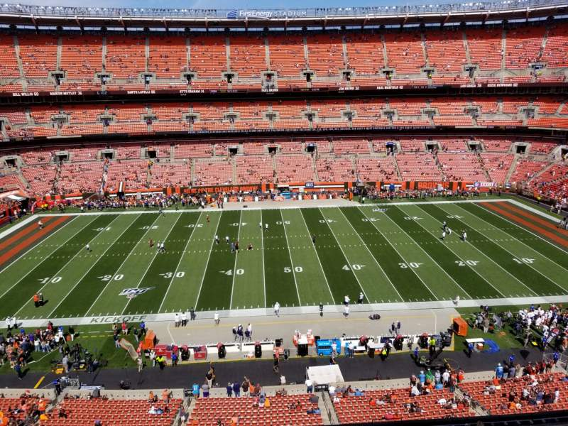 Seating view for FirstEnergy Stadium Section 508 Row 1 Seat 16