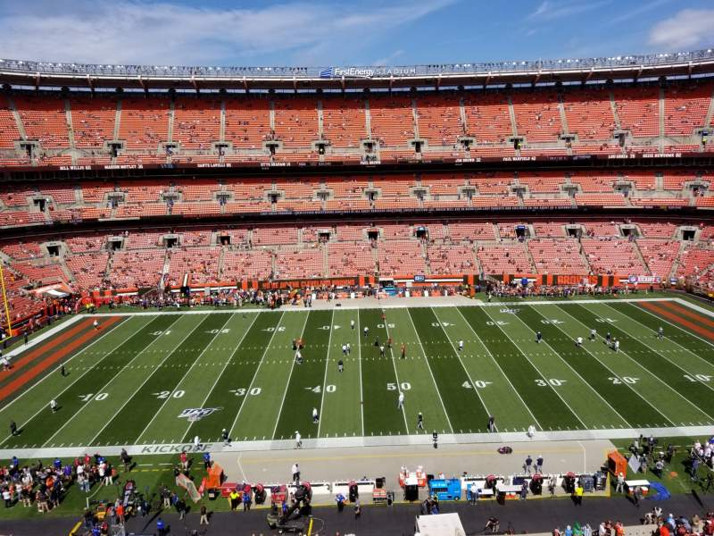 Seating view for FirstEnergy Stadium Section 508 Row 1 Seat 15
