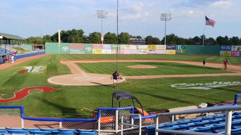 Seating view for Salem Memorial Baseball Stadium Section 105 Row H Seat 7