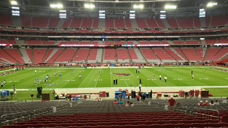 Seating view for State Farm Stadium Section 109 Row 37 Seat 10