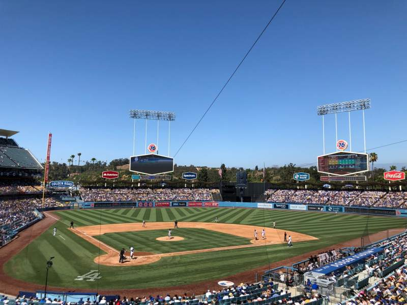 Seating view for Dodger Stadium Section 112LG Row H