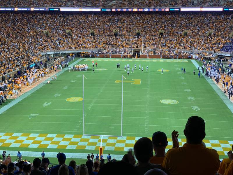 Seating view for Neyland Stadium Section K Row 62 Seat 30