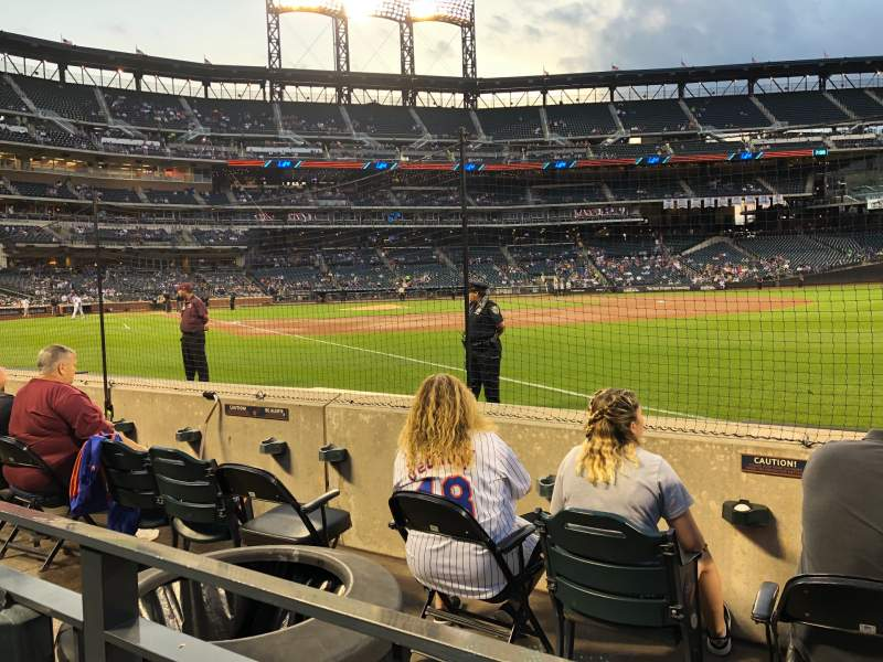 Seating view for Citi Field Section 109 Row D Seat 20