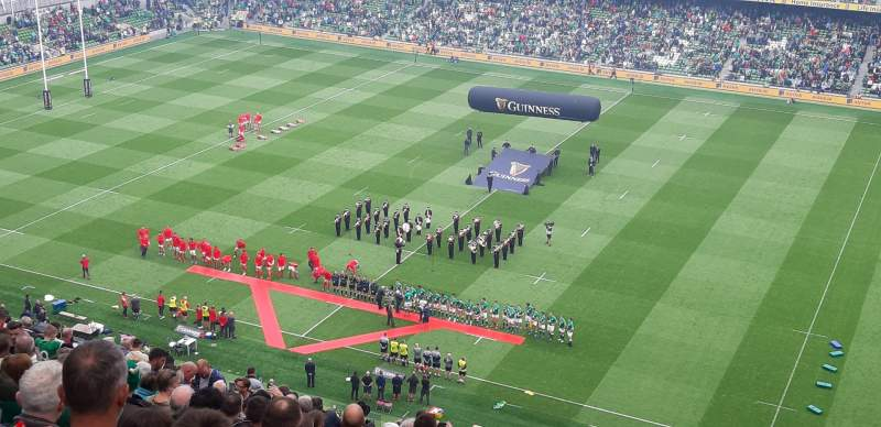 Seating view for Aviva Stadium Section BLK523 Row AA Seat 21