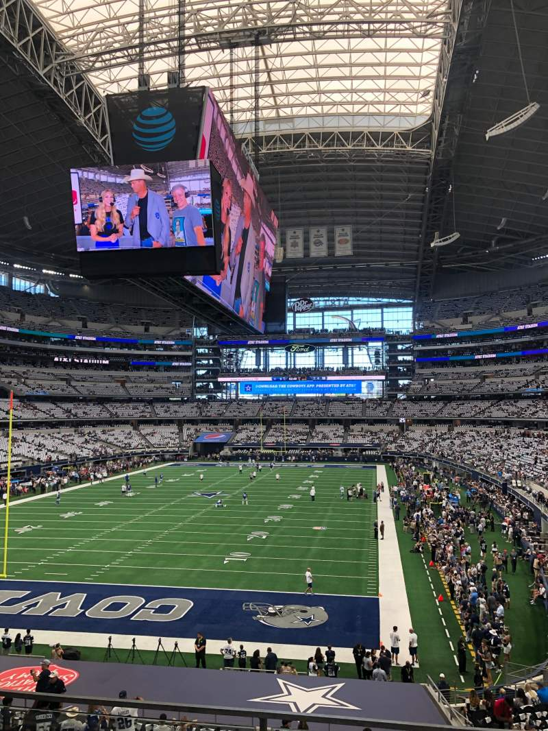 Seating view for AT&T Stadium Section 220 Row 3 Seat 7