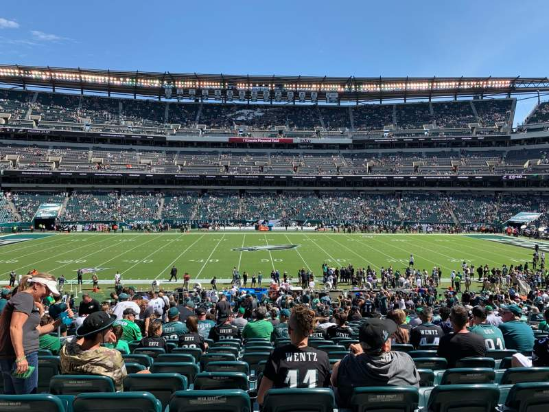 Seating view for Lincoln Financial Field Section 101 Row 35 Seat 8