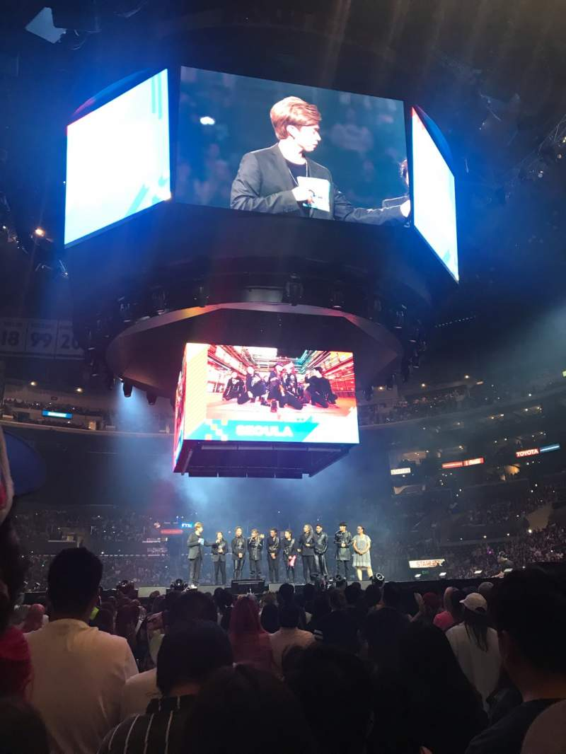 Seating view for Staples Center Section GA