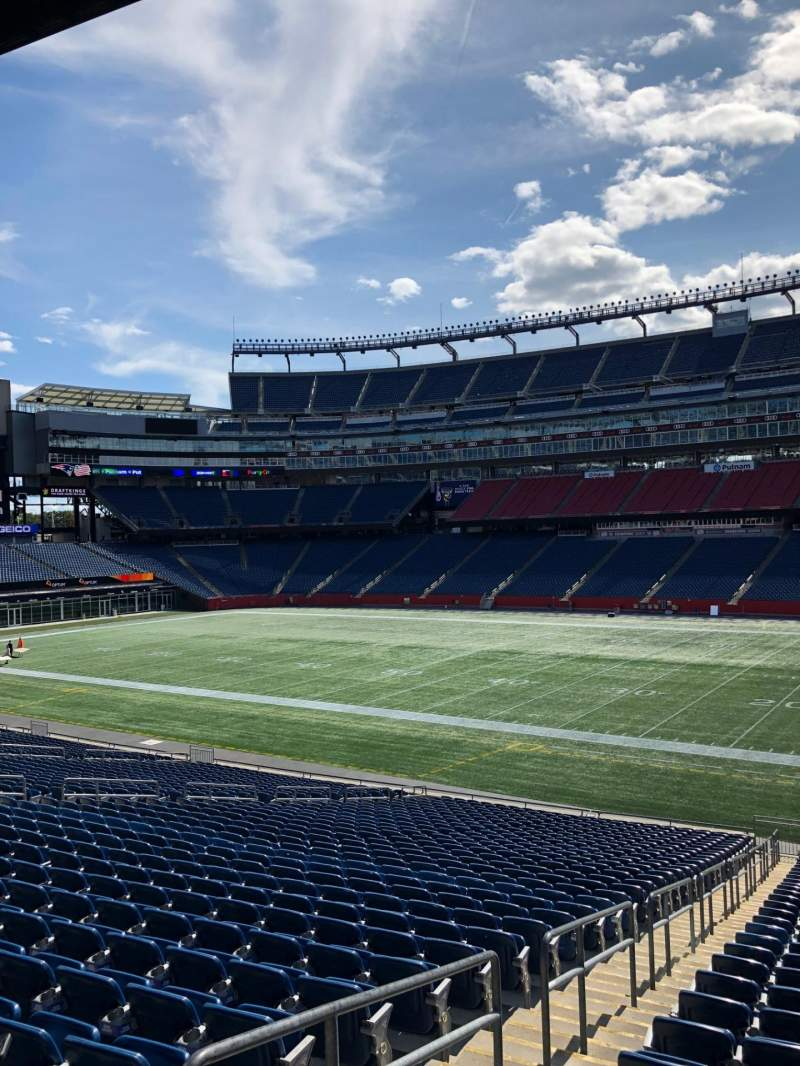 Seating view for Gillette Stadium Section 106 Row 34 Seat 21