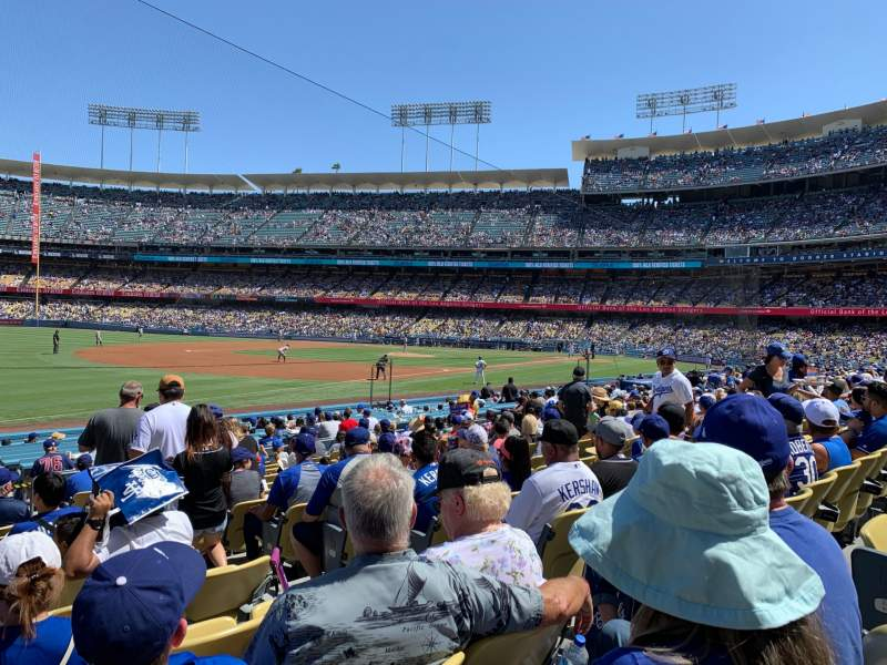 Seating view for Dodger Stadium Section 39FD Row O Seat 5