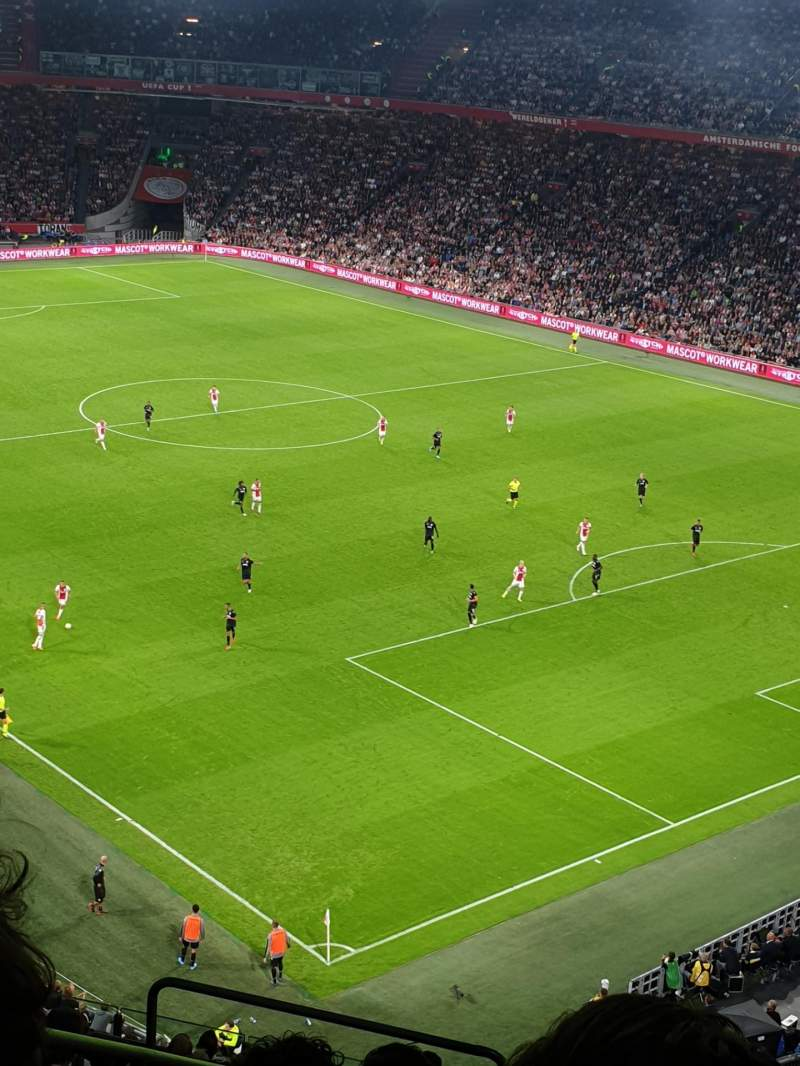 Seating view for Johan Cruyff Arena Section 401 Row 15 Seat 384