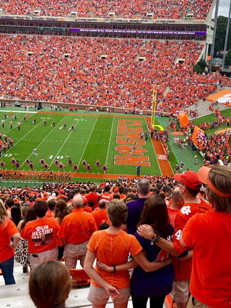 Seating view for Memorial Stadium, Clemson Section UB Row M Seat 20