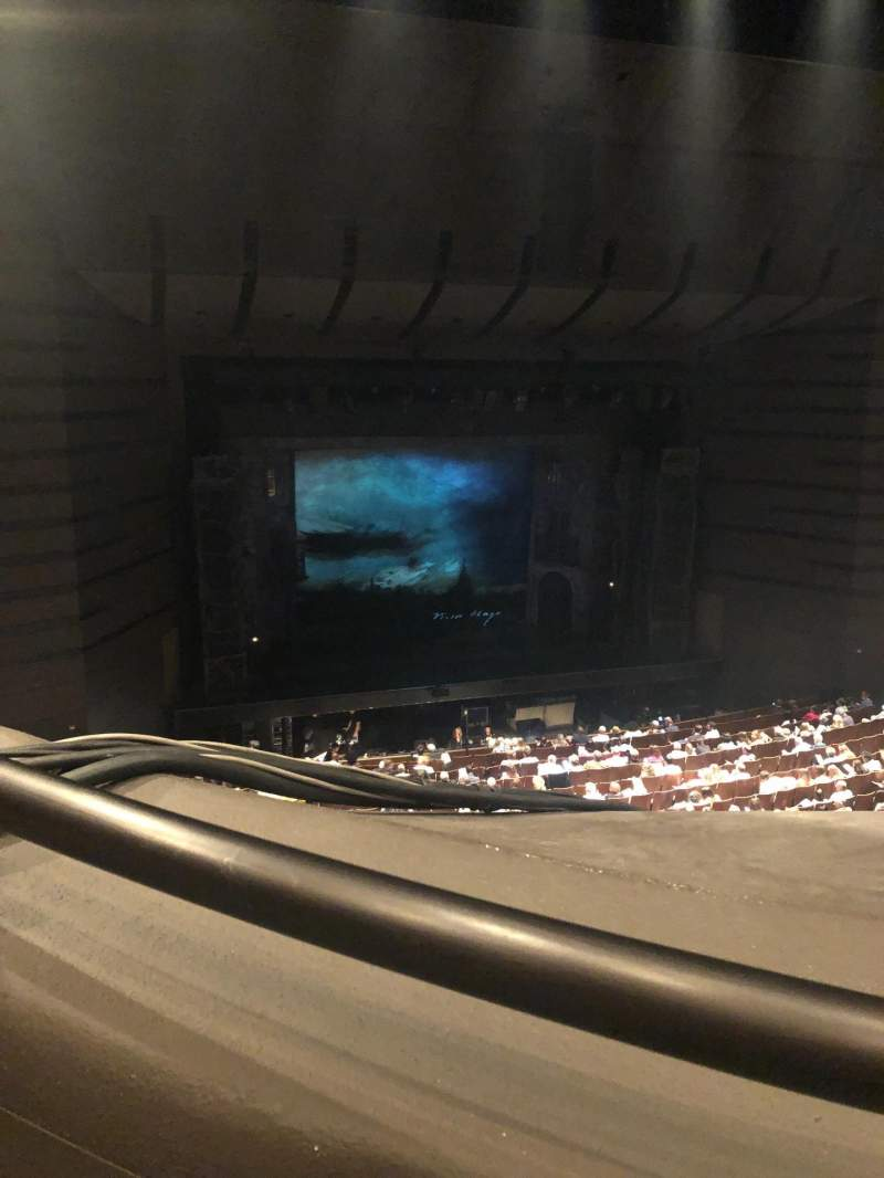 Seating view for Bass Concert Hall Section First balcony Row J Seat 107