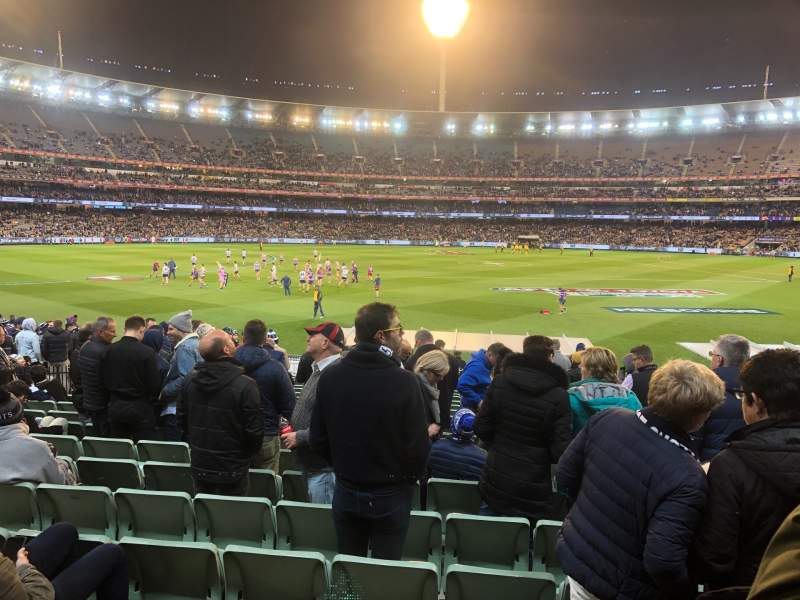 Seating view for Melbourne Cricket Ground Section M Row Y Seat 6
