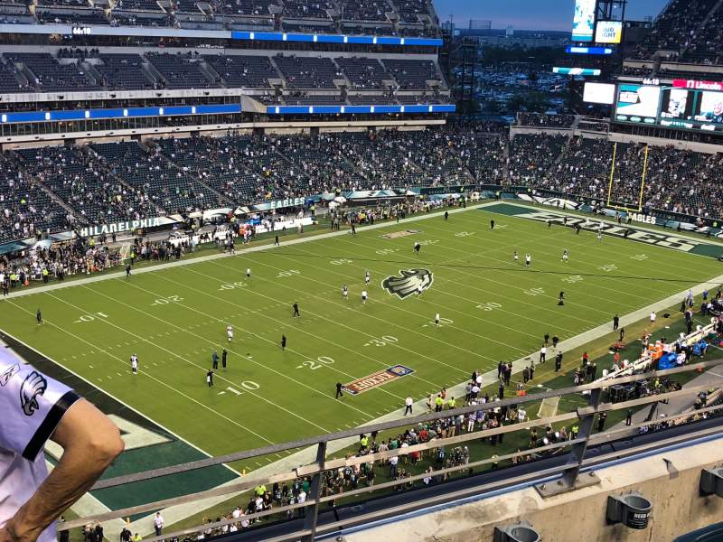 Seating view for Lincoln Financial Field Section 219 Row 3 Seat 13