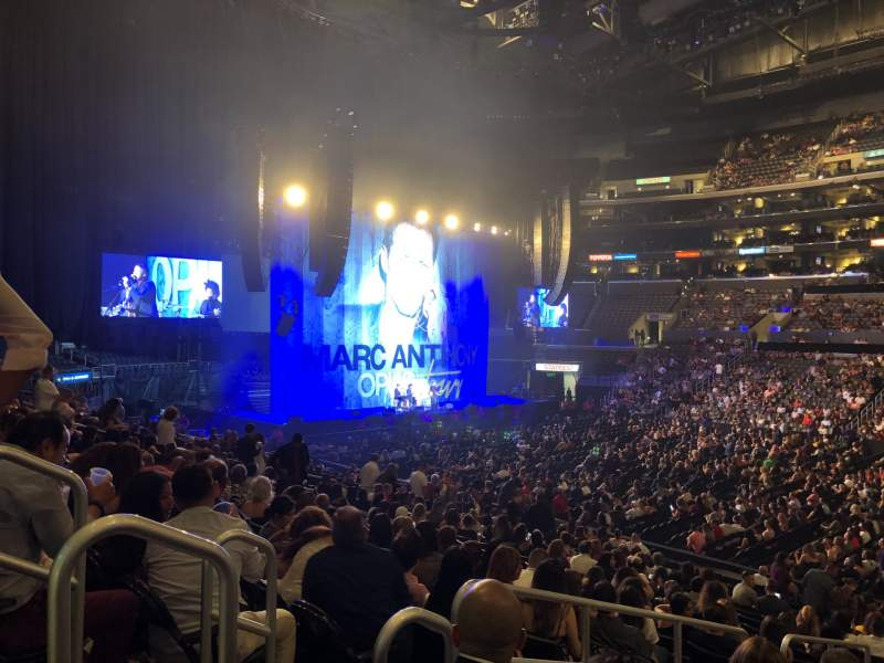 Seating view for Staples Center Section 110 Row 20 Seat 18