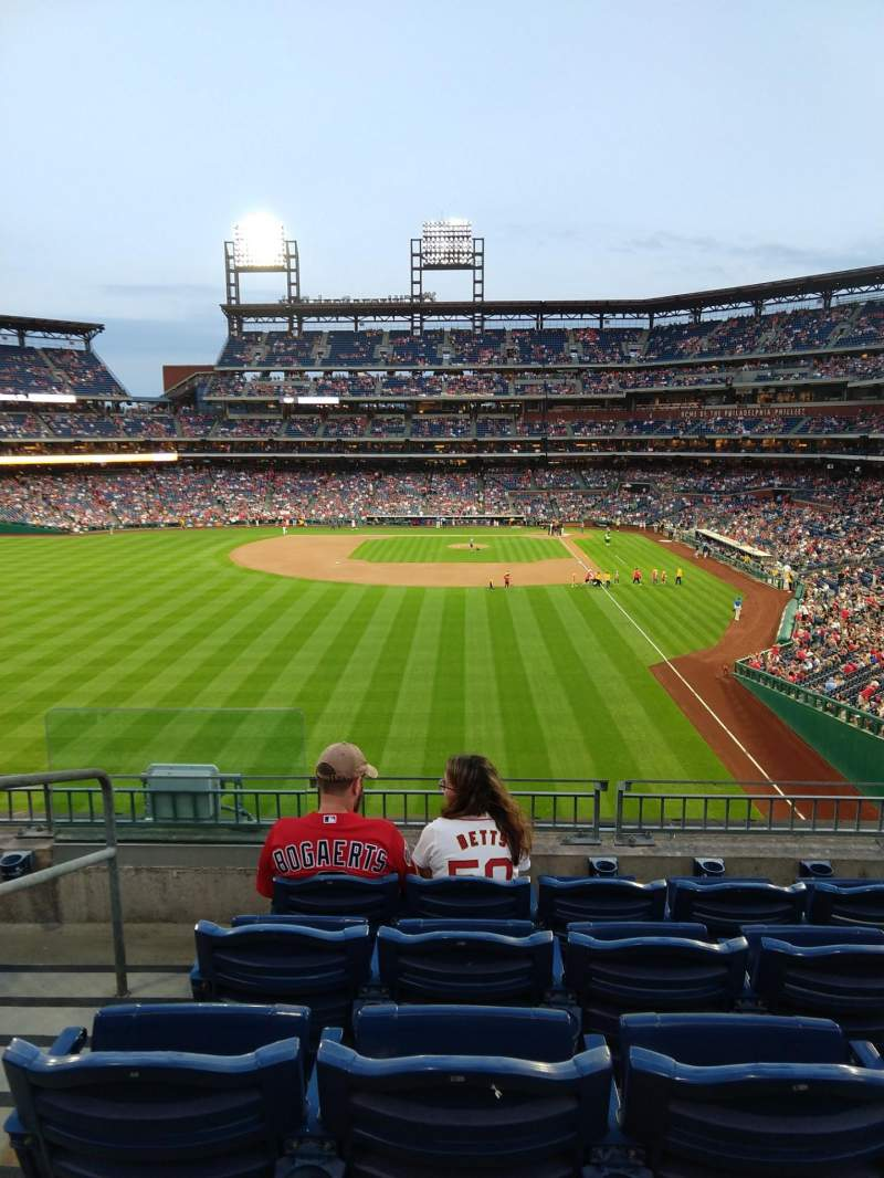 Seating view for Citizens Bank Park Section 241 Row 5 Seat 16