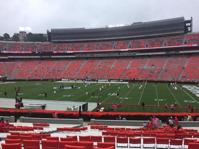 Seating view for Sanford Stadium Section 104 Row 35 Seat 14