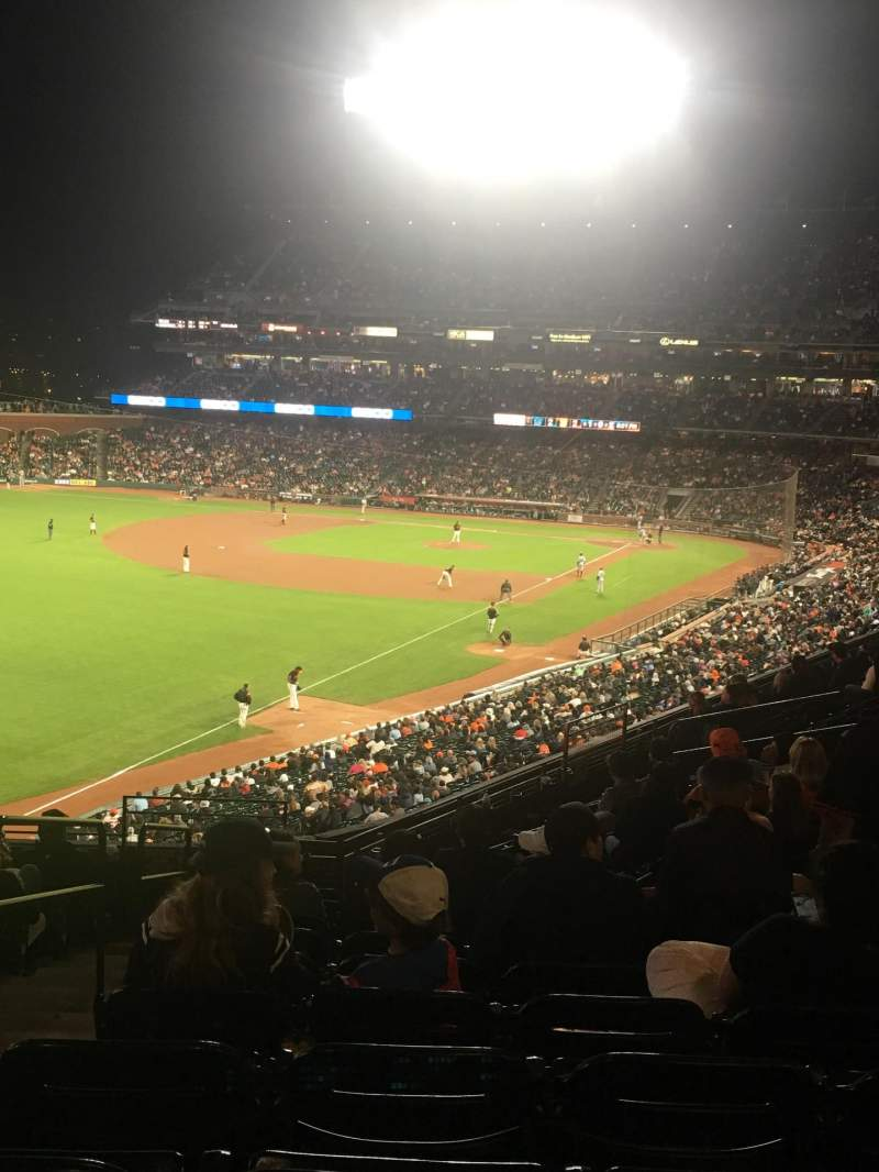 Seating view for Oracle Park Section 232 Row K Seat 25