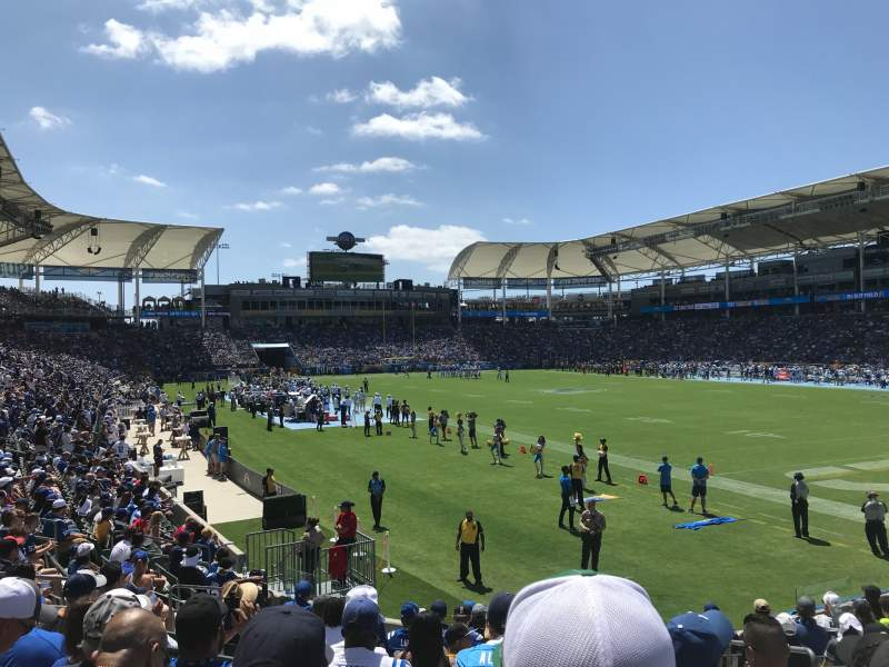 Seating view for Dignity Health Sports Park Section 126 Row N Seat 4