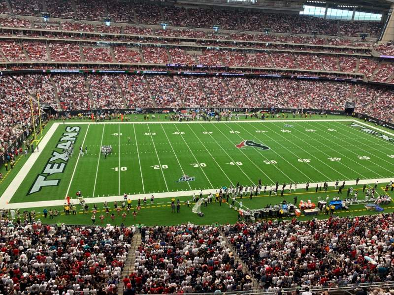 Seating view for NRG Stadium Section 537 Row G Seat 4