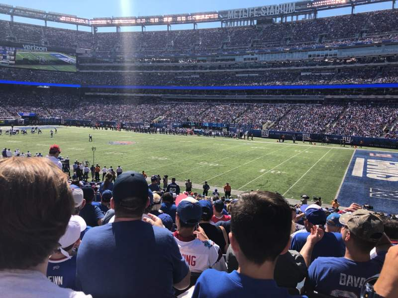 Seating view for MetLife Stadium Section 109 Row 26 Seat 16