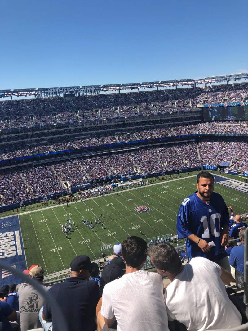 Seating view for MetLife Stadium Section 317 Row 17 Seat 3