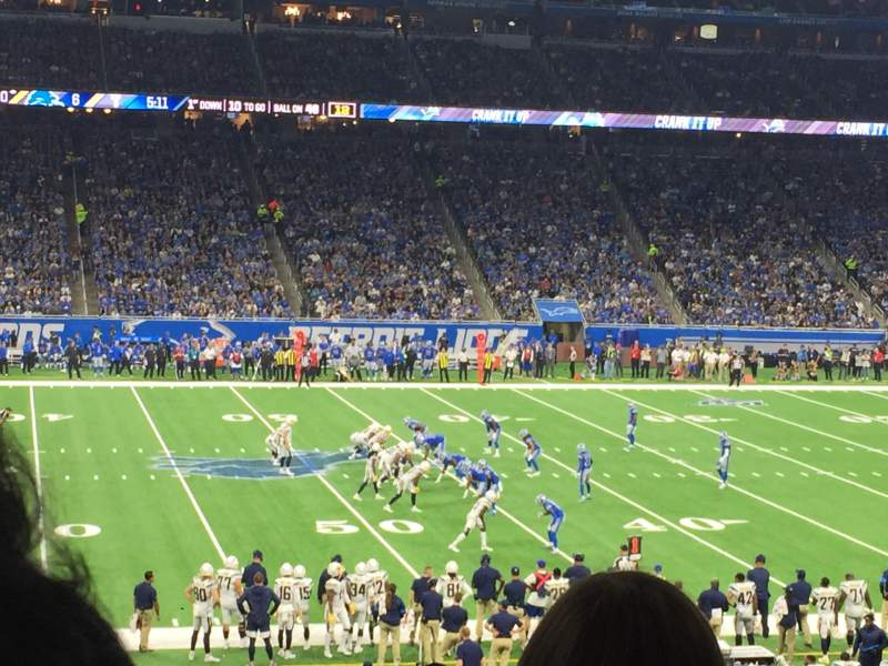 Seating view for Ford Field Section 126 Row 32 Seat 14