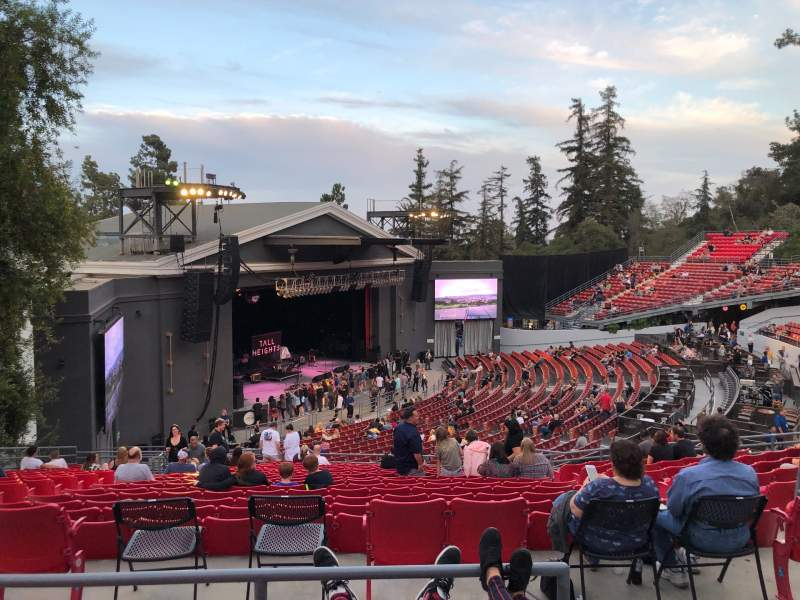 Seating view for The Greek Theatre Section North Terrace L2 Row N Seat 43