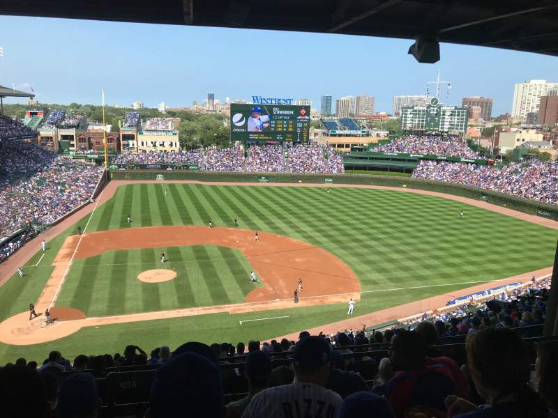 Seating view for Wrigley Field Section 423R Row 6 Seat 3