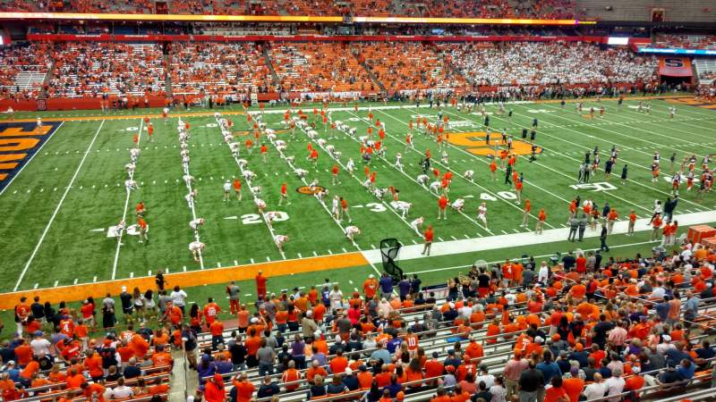 Seating view for Carrier Dome Section 321 Row T Seat 10