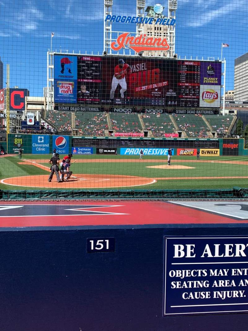 Seating view for Progressive Field Section 151 Row G Seat 1