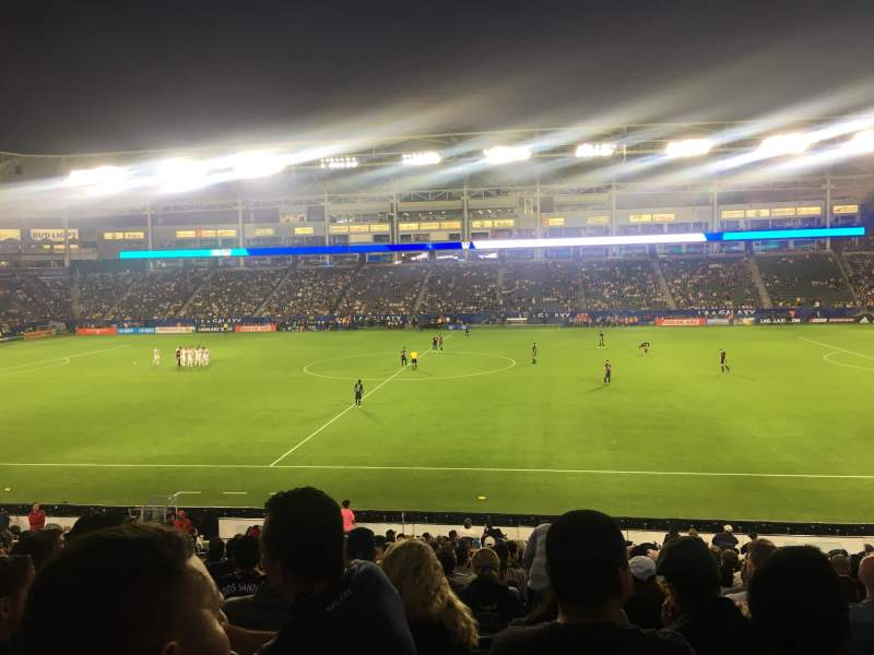 Seating view for Dignity Health Sports Park Section 131 Row W Seat 10