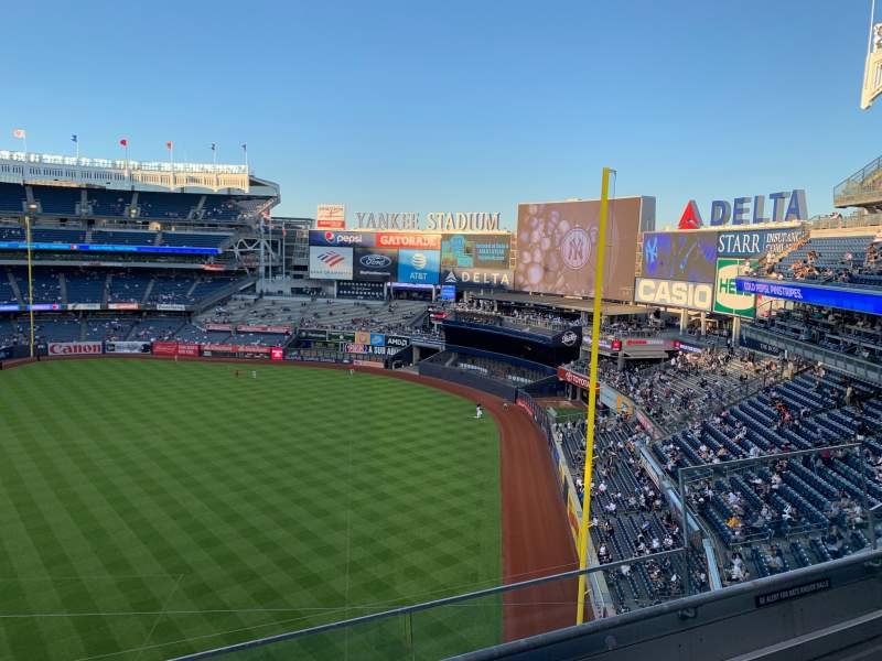 Seating view for Yankee Stadium Section 310 Row 3 Seat 5