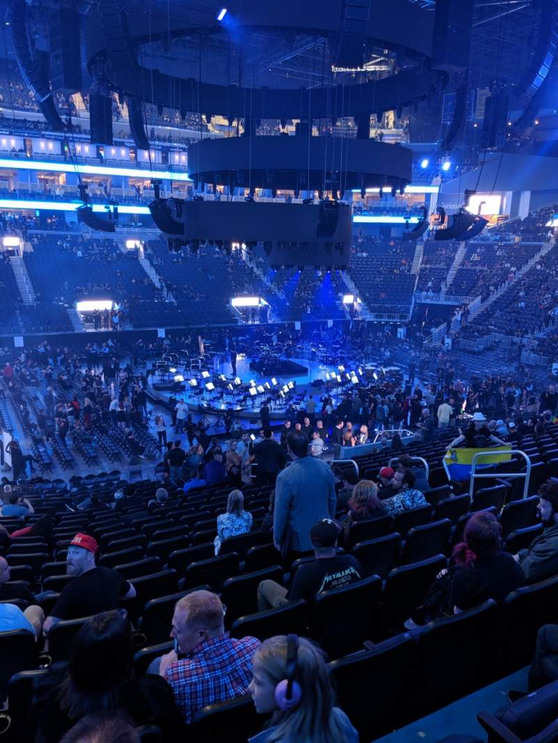 Seating view for Chase Center Section 105 Row 16 Seat 11