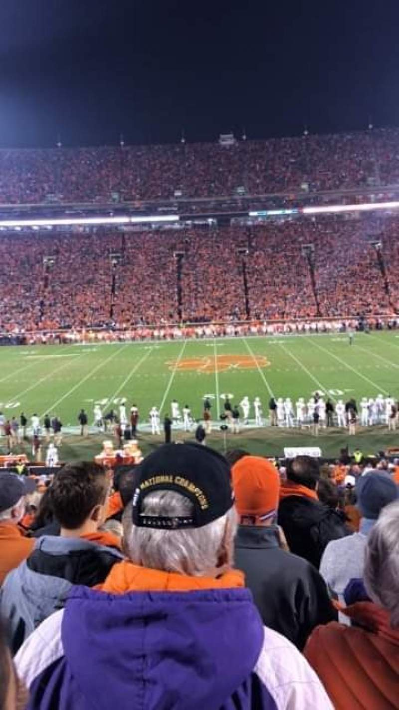 Seating view for Memorial Stadium, Clemson Section O Row GG Seat 29