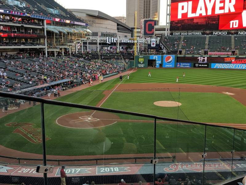 Seating view for Progressive Field Section 348 Row F Seat 6