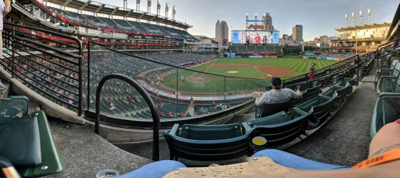 Seating view for Progressive Field Section 348 Row F Seat 5