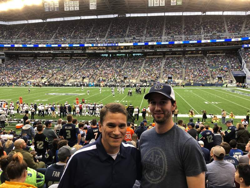 Seating view for CenturyLink Field Section 107 Row R Seat 7