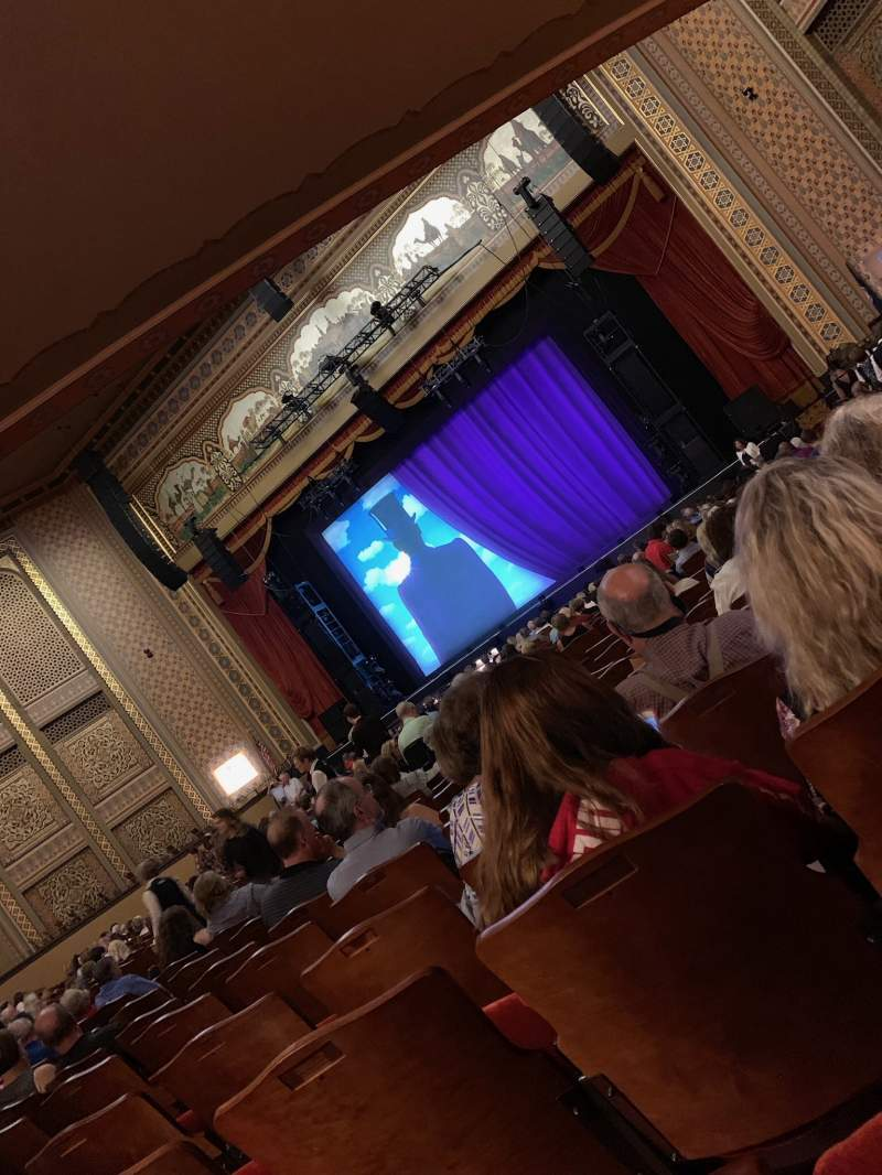 Seating view for Altria Theater Section ORCH_B Row Z Seat 202