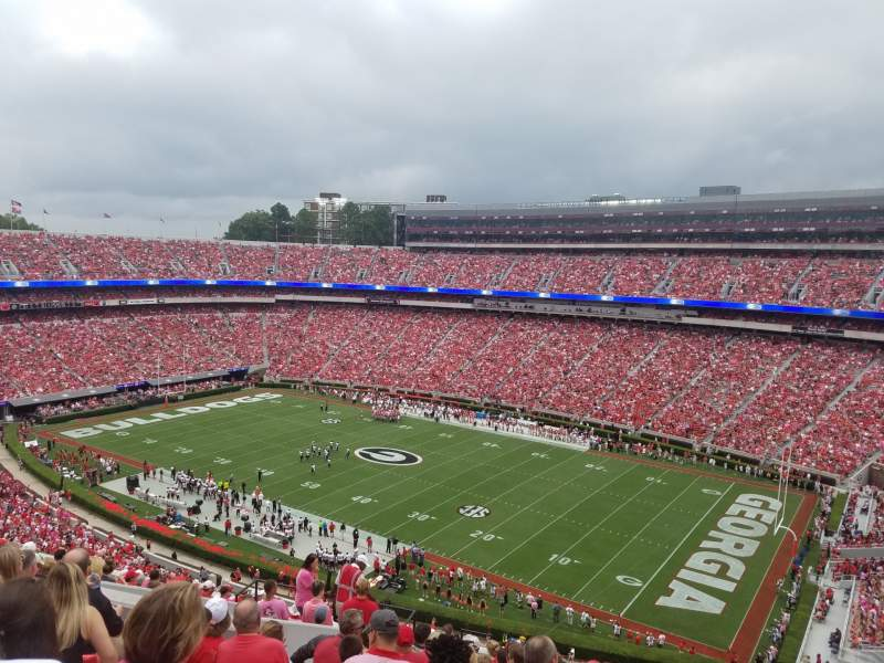 Seating view for Sanford Stadium Section 302 Row 17 Seat 18