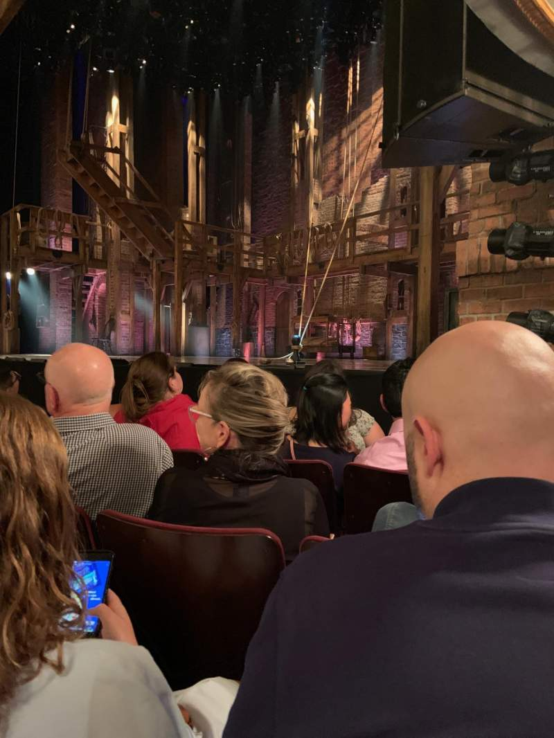 Seating view for Richard Rodgers Theatre Section Orchestra R Row D Seat 22, 20, 18