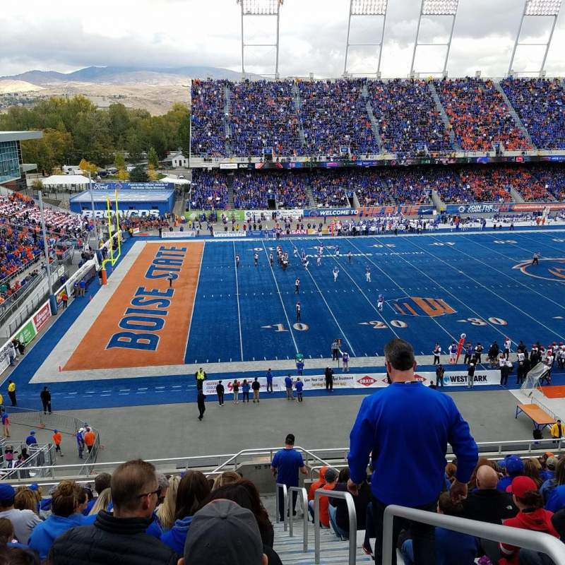 Seating view for Albertsons Stadium Section 111 Row N Seat 1
