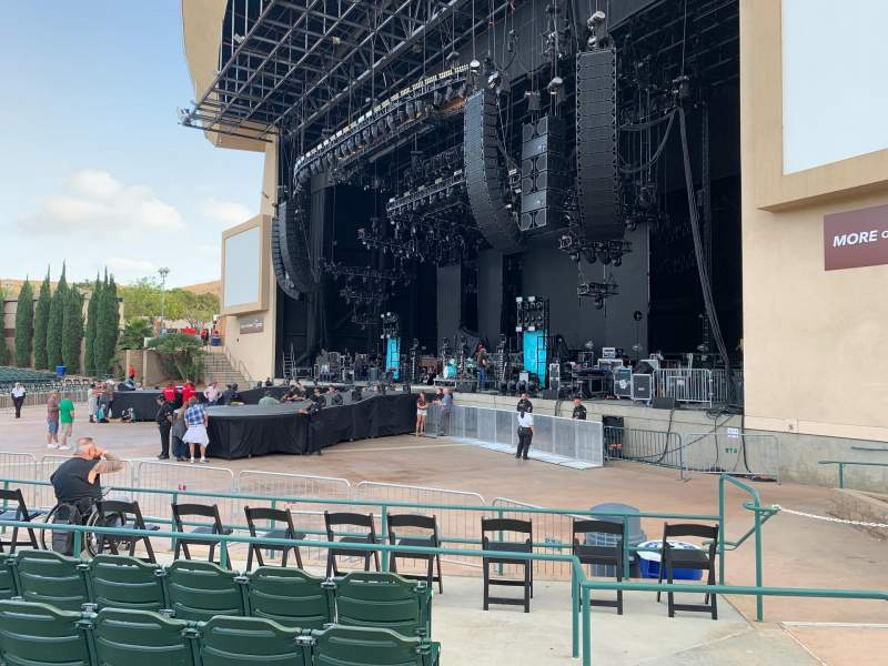 Seating view for North Island Credit Union Amphitheatre Section 101 Row F Seat 3