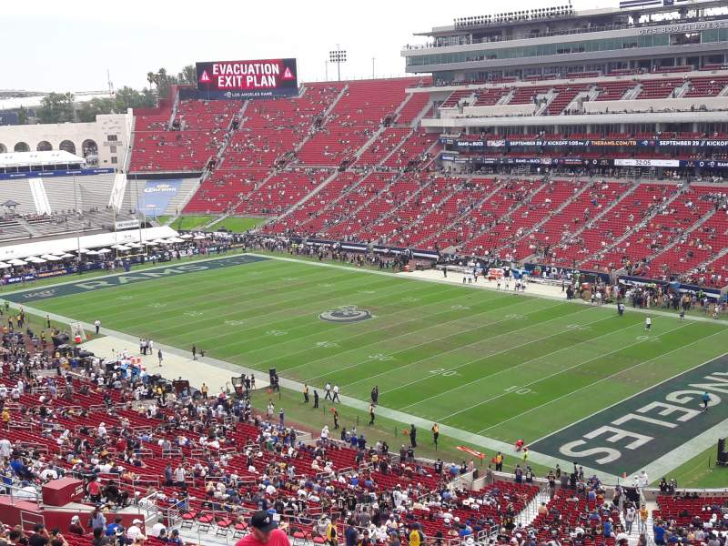 Seating view for Los Angeles Memorial Coliseum Section 318 Row 10 Seat 6