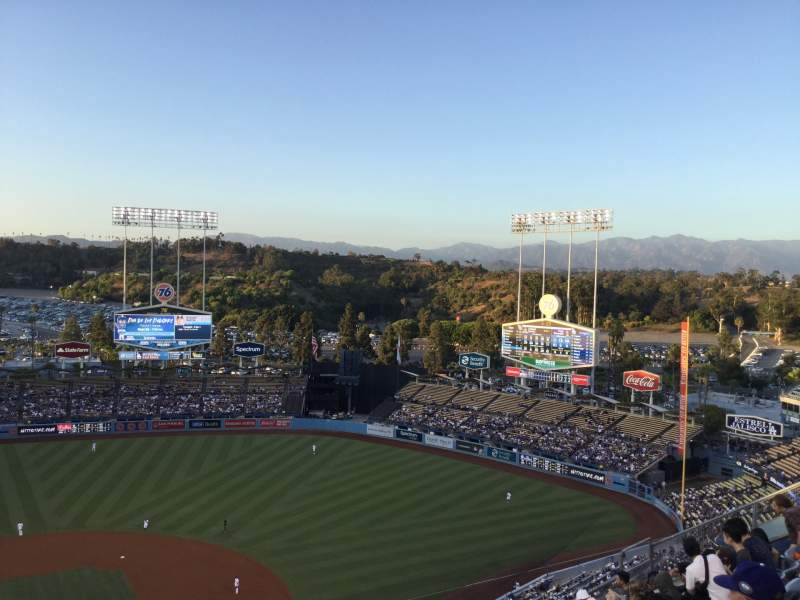 Seating view for Dodger Stadium Section 10TD Row J Seat 16