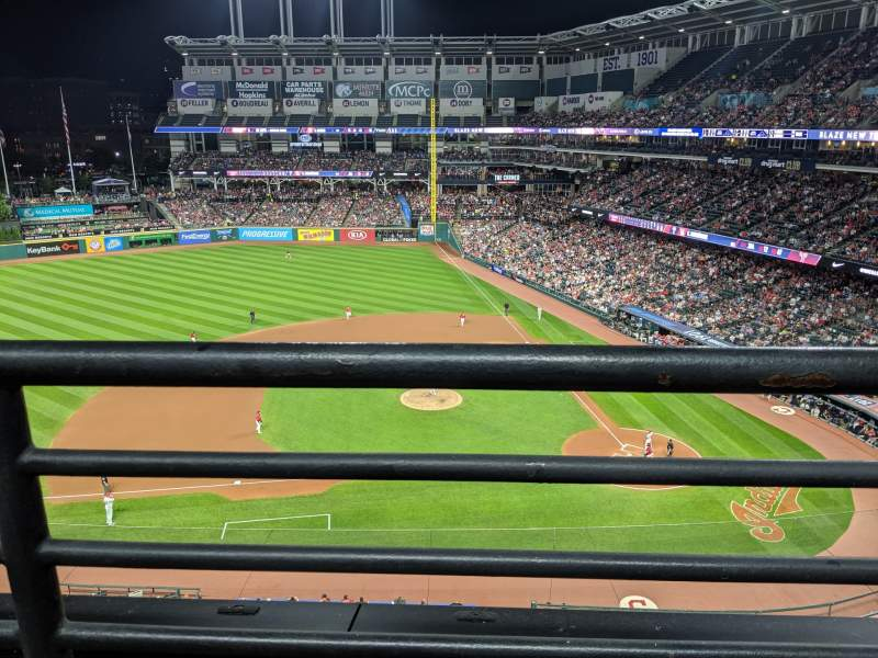 Seating view for Progressive Field Section 461 Row A Seat 2