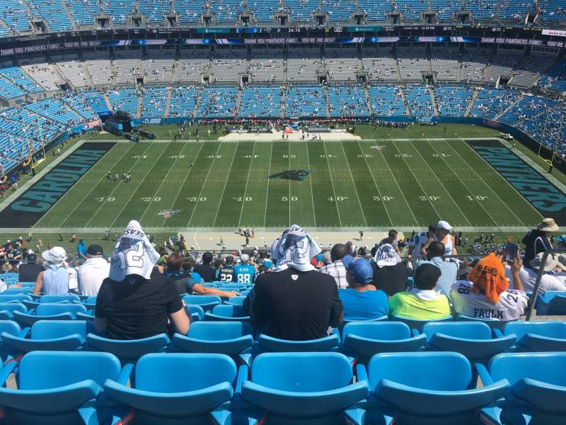 Seating view for Bank of America Stadium Section 542 Row 28 Seat 3